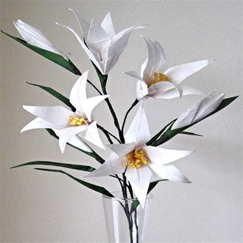 origami lilies easter origami flower bouquet graceincrease custom
