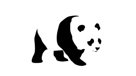 wallpaper black and white panda sad panda hidden in the white background wallpaper