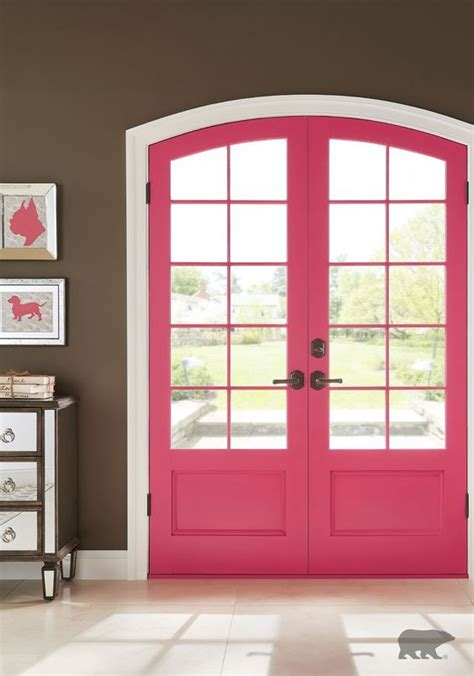 sophisticated pink paint colors update your entryway with a bold color from behr paint to