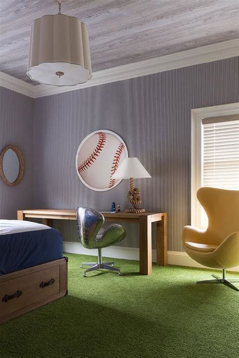 baseball themed room baseball themed boys bedroom with faux grass carpet
