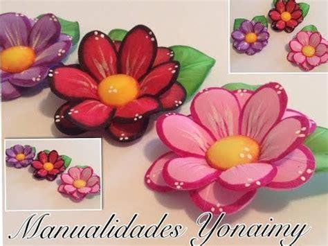 flores de foamy como hacer corazones de fomi o goma eva candys heart diy
