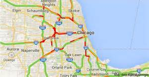chicago highway map chicago traffic map map2