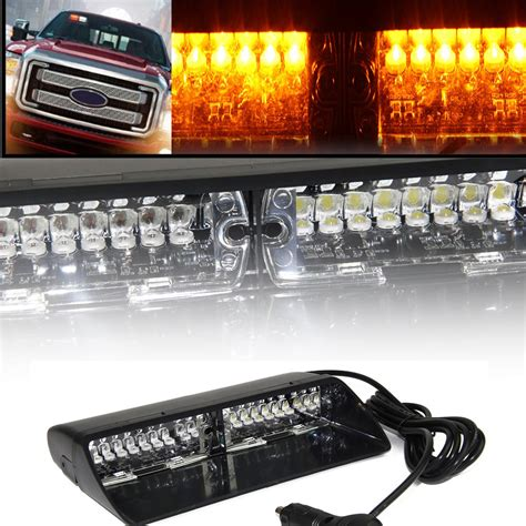 2016 New 2xcar Led Emergency Light Bar Hazard Strobe Interior Led Emergency Light Bar