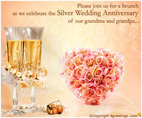 25th anniversary invitation wording | 25th wedding