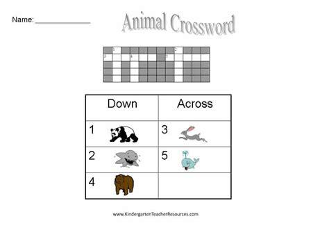 easy crossword puzzles for kindergarten free easy crossword puzzles