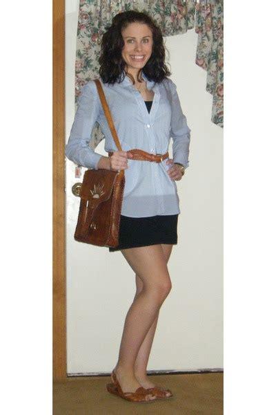 blue shirts brown belts brown shoes black dresses