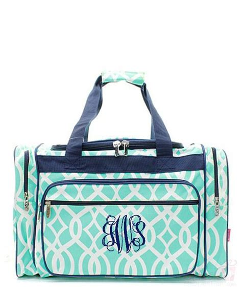 kids duffle bag monogrammed ivy moroccan mint