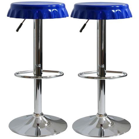 unique bar stool with ivy cap seating picciotto bar amerihome retro style soda cap bar stool in blue set of 2