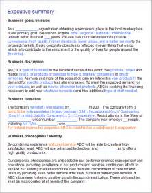 Executive Summary Business Plan Template Planmagic Business 11 0
