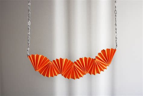 How To Make Origami Jewelry - diy origami style necklace how about orange