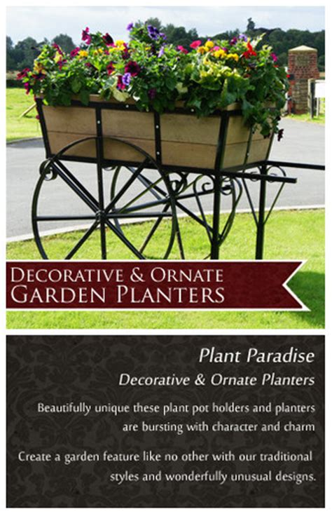 Ornate Garden Planters by Decorative And Ornate Planters Black Country Metal Works