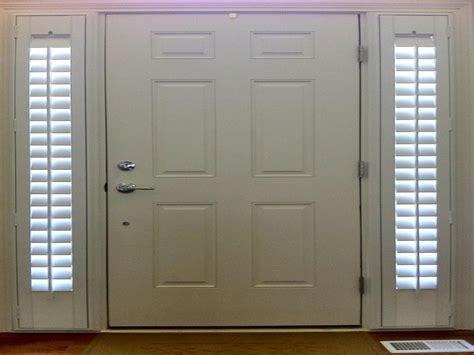 window treatments shutters front door sidelight window