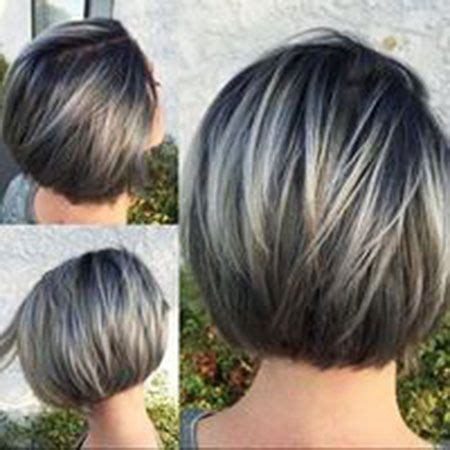 Grey Hair 2015 Highlight Ideas | 25 best short straight layered bob hairstyles grey