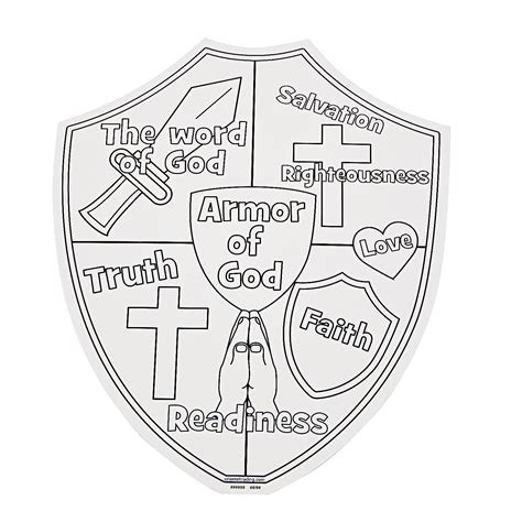 armor of god crafts for color your own armor of god cutouts trading