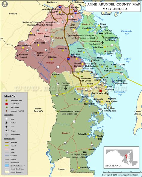 md county map arundel county map maryland