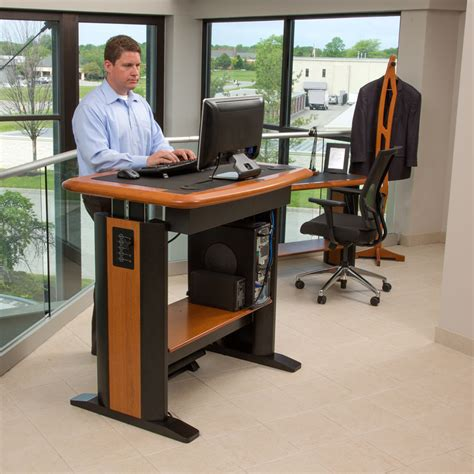 big advantages form standing computer desk all office