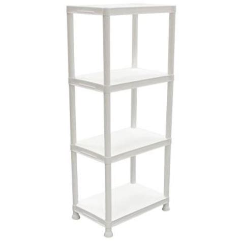 hdx 4 shelf 14 in d x 22 in w x 52 in h white plastic