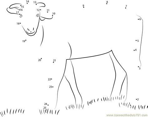 printable dot to dot sheep koyun dot to dot printable worksheet connect the dots