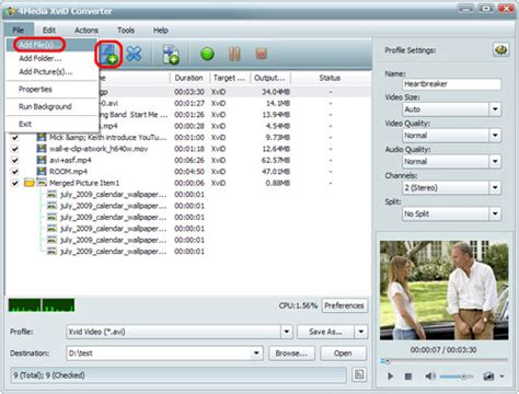 xvid format converter how to convert mp4 to xvid