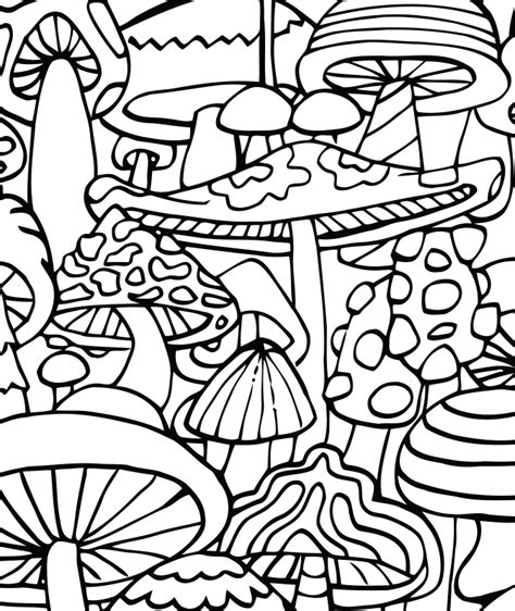 abstract mushrooms coloring pages free mushrooms with flowers coloring pages
