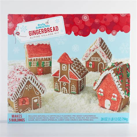 Gingerbread Home Decor alpine gingerbread village kit world market