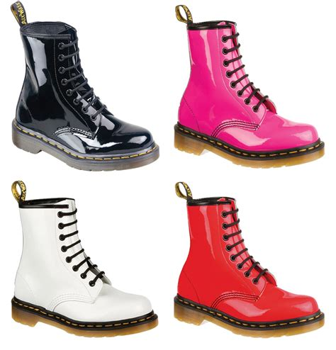 dr martens 1460w 11821670 womens boots patent ler pink