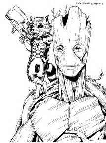 marvel coloring books enjoy coloring this free printable groot and rocket