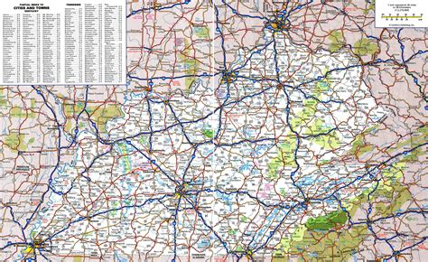 kentucky map counties roads road map of east ky pictures to pin on pinsdaddy