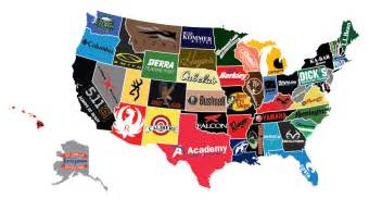 us map by brand the most notable sportsmen brands in all 50 states wide