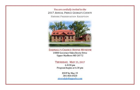 you are cordially invited to the wedding reception preservation month reception prince george s county historical society