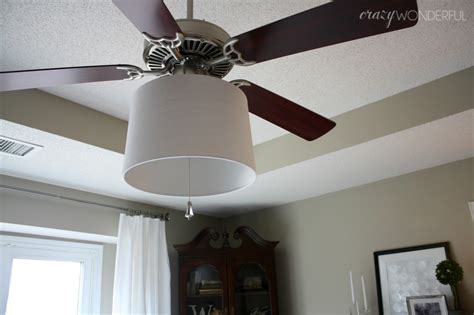 adding a ceiling fan to a room adding a drum shade to a ceiling fan crazy wonderful