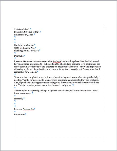 Business letter format personal business letter format block style