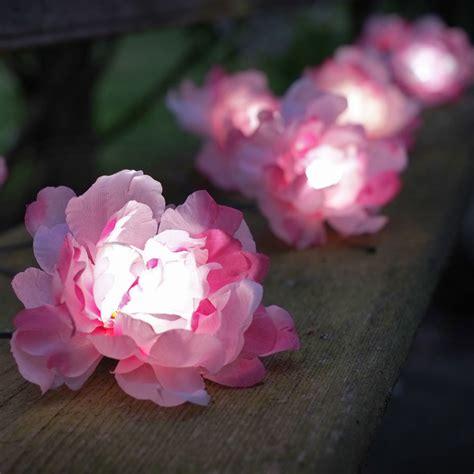 pink string lights solar powered pink roses string lights 10 smart garden