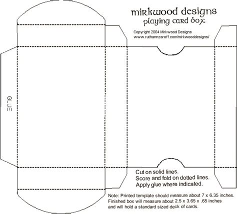 make a card box template 13 card design template images printable blank
