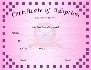 blank adoption certificate template adoption certificate template adoption certificate
