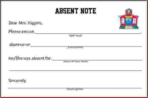 9 doctors note for school absenceagenda template sle