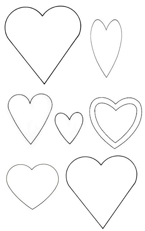 Best 25 Heart Template Ideas On Pinterest Printable Hearts Valentine Hearts And Free Banner Felt Shapes Templates