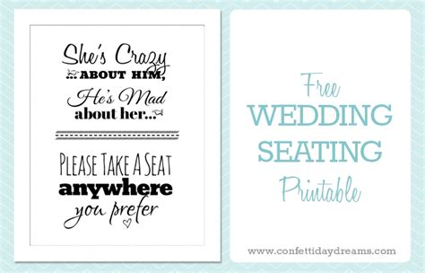 Free Printable Wedding Download Pick A Seat Sign Weddbook Diy Wedding Signs Templates