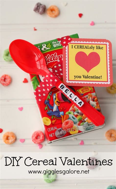 cereal box valentines diy cereal valentines