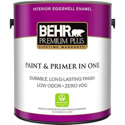 Home Depot Interior Paint Brands Behr Premium Plus 1 Gal Ultra White Eggshell Enamel Zero Voc Interior Paint 205001 The