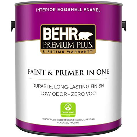 behr premium plus 1 gal base eggshell enamel zero voc interior paint 230001 the home depot
