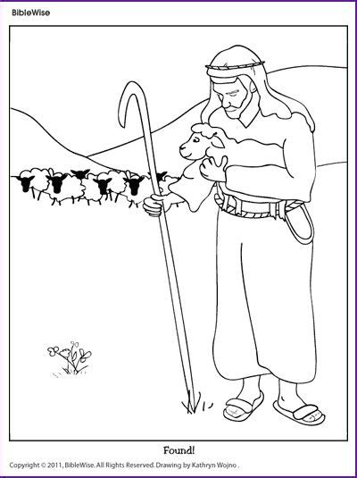 coloring page the lost sheep 32 best good shepherd sabbath school ideas images on