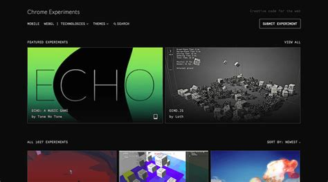 chrome experiments the 20 best sources for finding web design inspiration