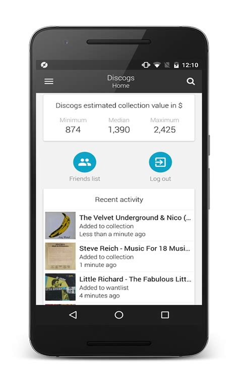 Android Zone by Discogs Application Pour Digger Android Zone