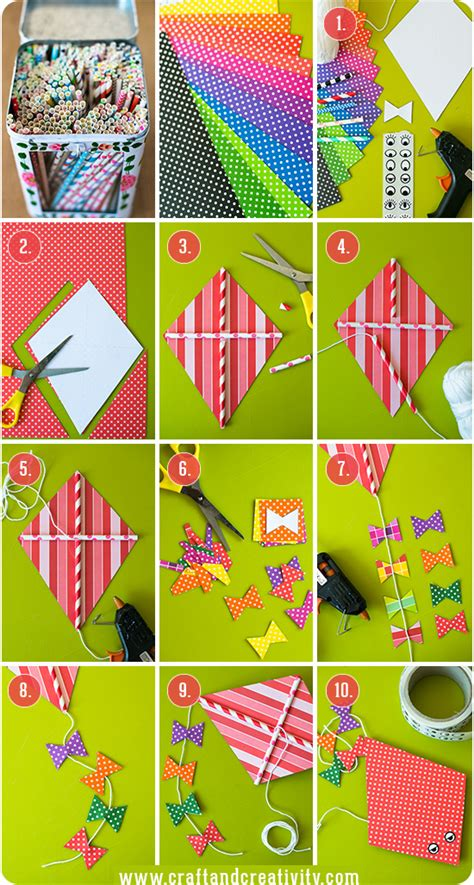 Kite Paper Craft - paper kites crafts