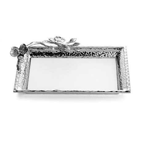 White Vanity Tray by White Orchid Vanity Tray By Michael Aram