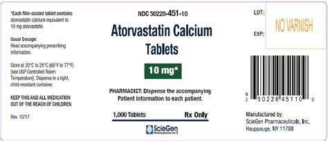 Atorvastatin Calcium 20 Mg Isi 10 dailymed atorvastatin calcium atorvastatin calcium tablet coated