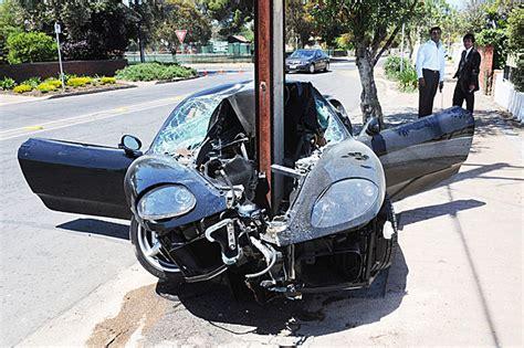 worst bugatti crashes ferrari 360 modena crashed into the pole in walkerville