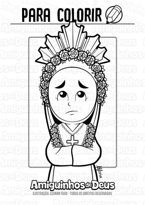 Nossa Senhora da Salette para colorir ~ Amiguinhos de Deus