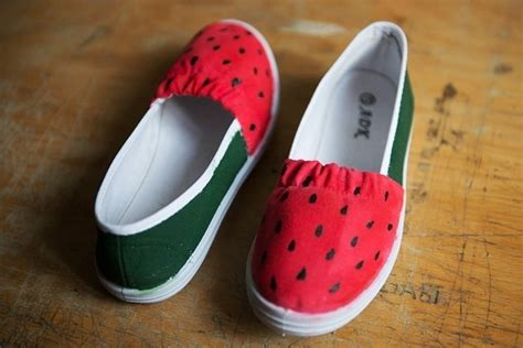 diy watermelon shoes diy watermelon shoes 183 how to paint a pair of painted